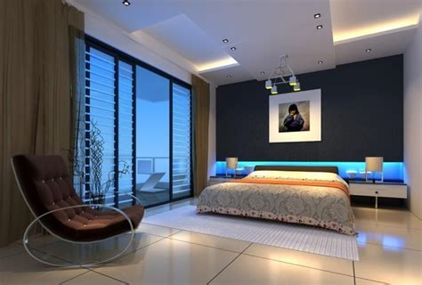 blue interior design leisure sofa blue wall l bedroom interior design 3d