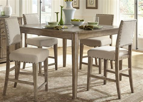 gathering table set weatherford rustic casual 5 gathering table set