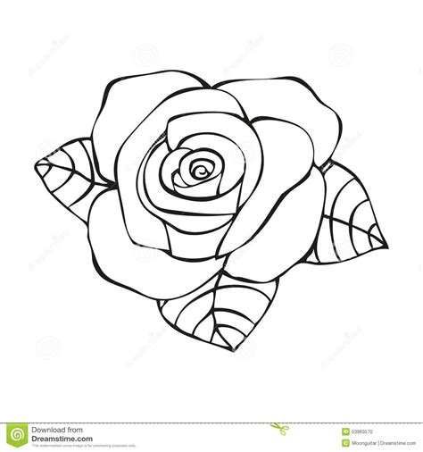rose in tattoo style stock vector image 53963570