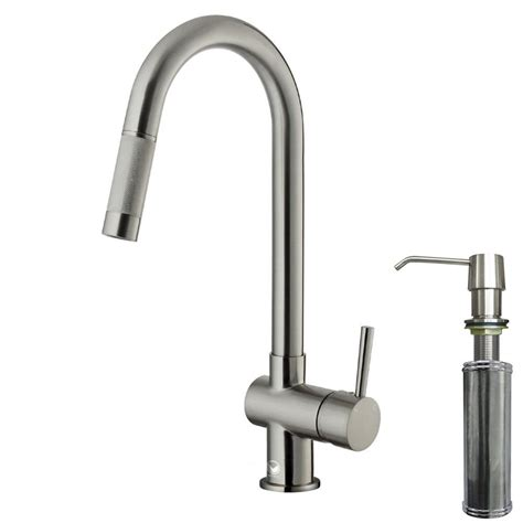 single handle kitchen faucet with sprayer vigo single handle pull out sprayer kitchen faucet with
