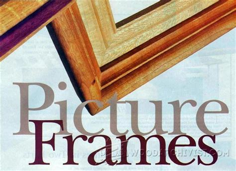 woodworking plans picture frames router made picture frame woodarchivist