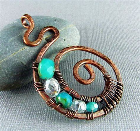 how to make copper jewelry from wire copper wire jewelry wire wrapped pendant handmade