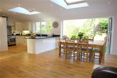 open plan kitchen diner ideas a beautiful kitchen diner extension with roof windows add light and space to your home via