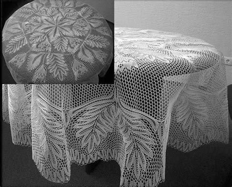 knitting patterns for tablecloths tablecloth in knitted lace by herbert