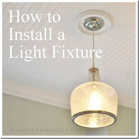 How To Wire A Light Fixture How To Install A Light Fixture