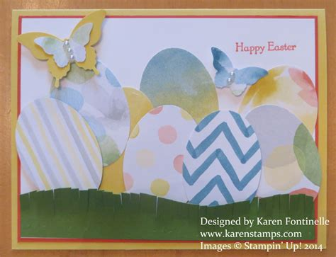 make a easter card an easy easter card for you to make sting with