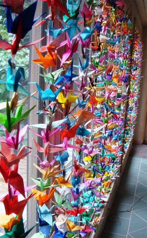 1 000 origami cranes 1000 cranes for my wedding cathy day