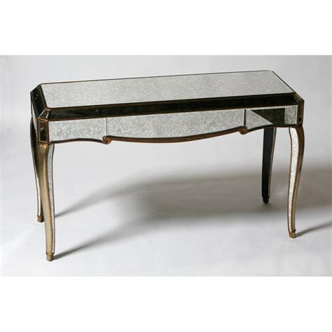 mirrored sofa tables mirrored console table sei mirage mirrored 2 drawer