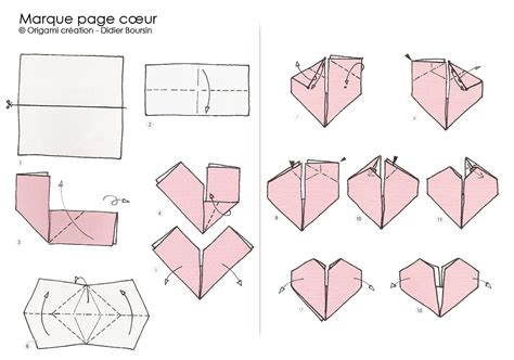 origami page origami cr 233 ation didier boursin diagramme marque page