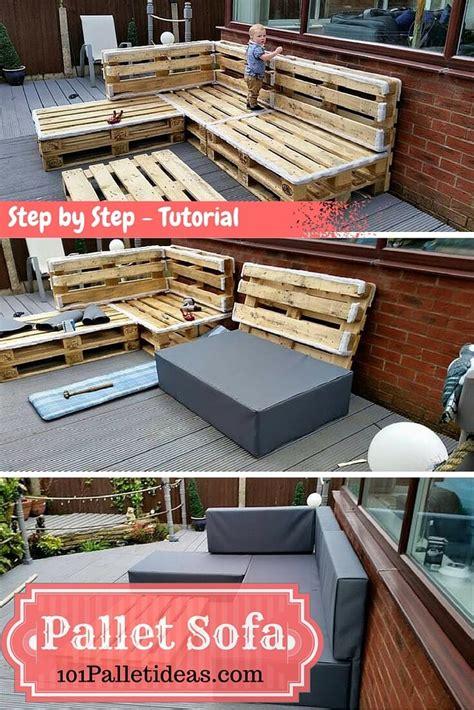 pallet sectional sofa diy pallet sectional sofa tutorial