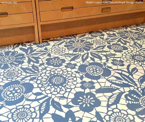 diy chalk paint floor diy flower stencils lace stencils floor stencils