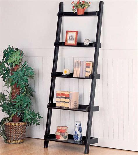 black ladder bookshelves pdf diy leaning ladder bookshelf plans log home
