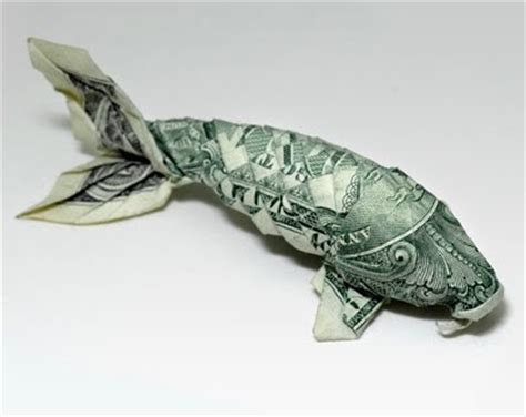 dollar bill origami koi brett september 2009
