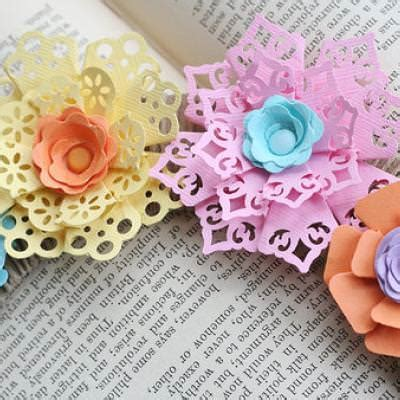 paper crafting punched paper flowers paper crafting tip junkie