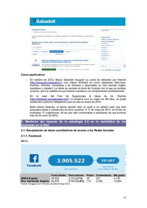 banc sabadell cam an 225 lisis comparativo estrategias de comunicaci 243 n web 2 0