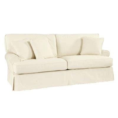 white slipcovered sofa ballard designs white slipcovered sofa home living