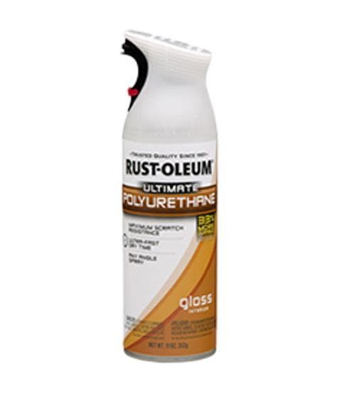 spray paint polyurethane buy rust oleum ultimate polyurethane spray gloss