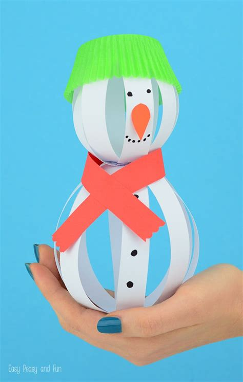 snowman paper crafts paper snowman craft easy peasy and