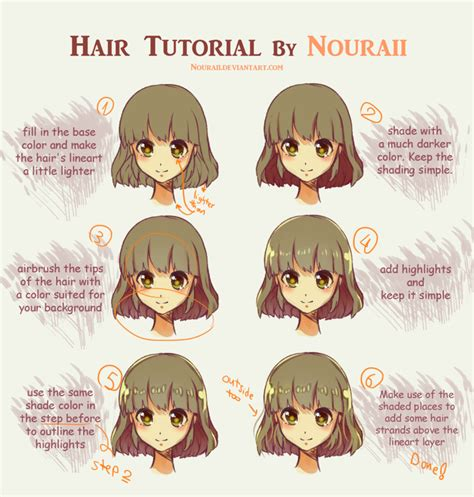 paint tool sai realistic hair tutorial hair tutorial by nouraii on deviantart