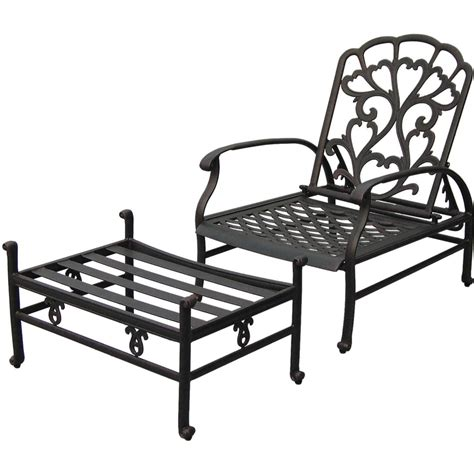 reclining patio chairs with ottoman darlee cast aluminum patio reclining club chair