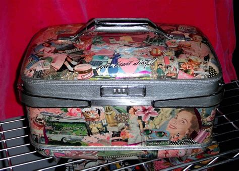 decoupage vintage suitcase 17 best images about suitcase redo on vintage