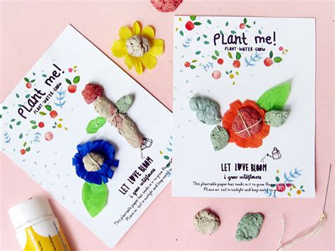 how to make seed cards re diy plantable seed paper cards handmade