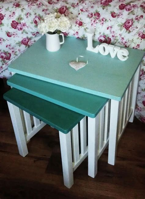 chalk paint nest of tables 17 best images about nest of tables on nesting