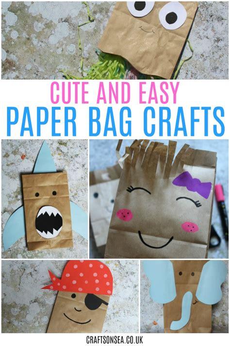 paper bag craft for paper bag haircuts a scissor skills craft crafts