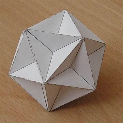 origami mathematical models paper model great dodecahedron origami