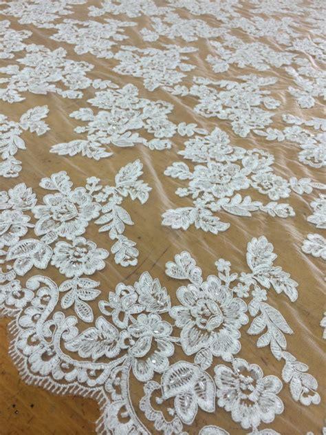 beaded fabrics by the yard white beaded lace fabric by the yard lace alencon