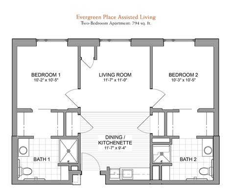 assisted living floor plans social media policy evergreen senior living in orland