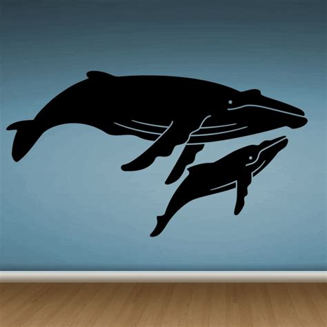whale wall stickers two whales wall stickers by artollo