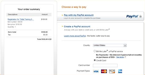 how to make a credit card with paypal paypal payments standard help apricot help