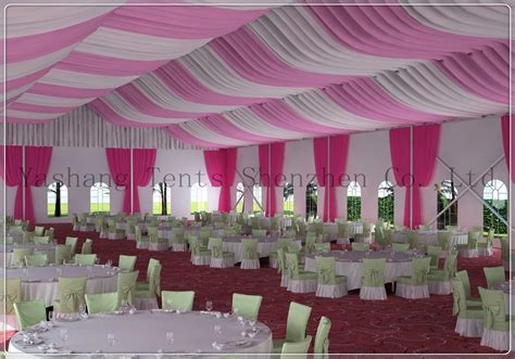 roof decorations yashang tents 187 roof lining decorations for a wedding