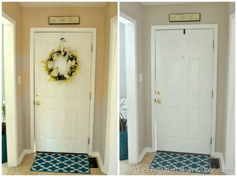 Good Paint Colors For Bedrooms entryway before and after beige to greige with behr paint