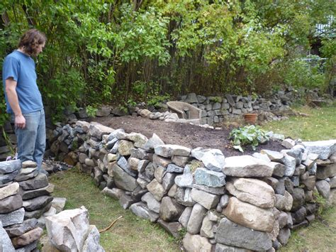 garden bed rocks kokanee home renovations raised garden bed stage 1