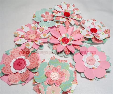 Pieces Of Me Scrapbooking Paper Crafts Paper Flowers