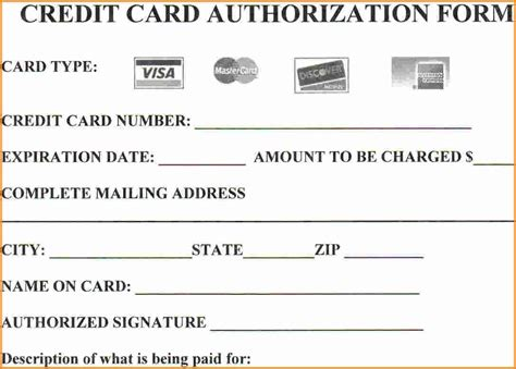 15 Credit Card Authorization Form Template Free