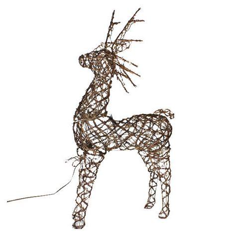lighted grapevine deer animated grapevine deer decoration
