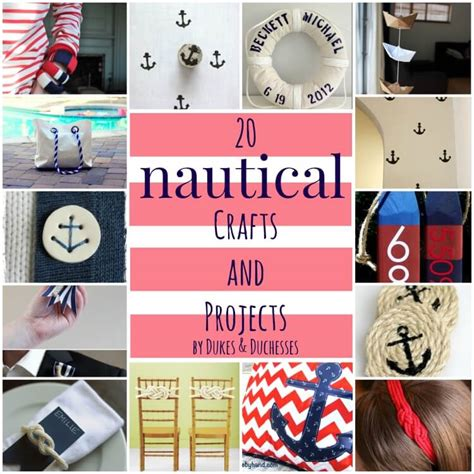 nautical craft projects 20 nautical crafts and projects dukes and duchesses
