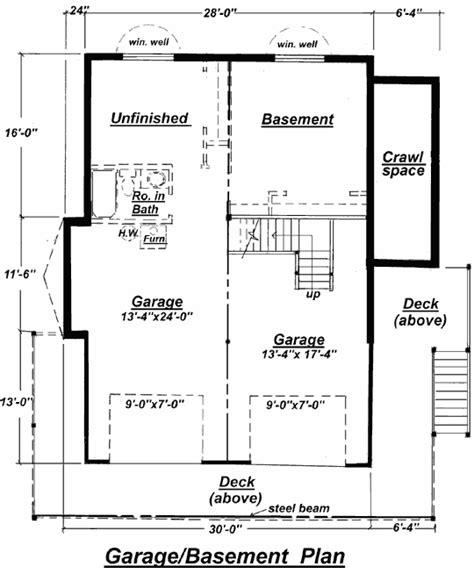 basement floor plan c 511 unfinished basement floor plan from creativehouseplans