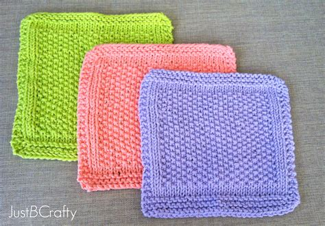 how to knit a dishcloth 6 steps seed stitch dishcloths just be crafty