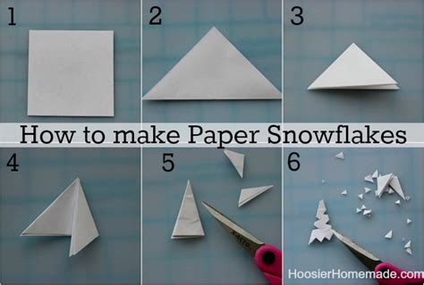 how to make out of paper how to make snowflake yourself