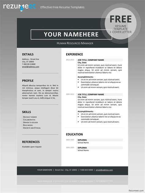 resume format in word format jordaan clean resume template