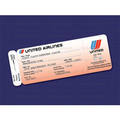 printable united airlines style airline ticket boarding