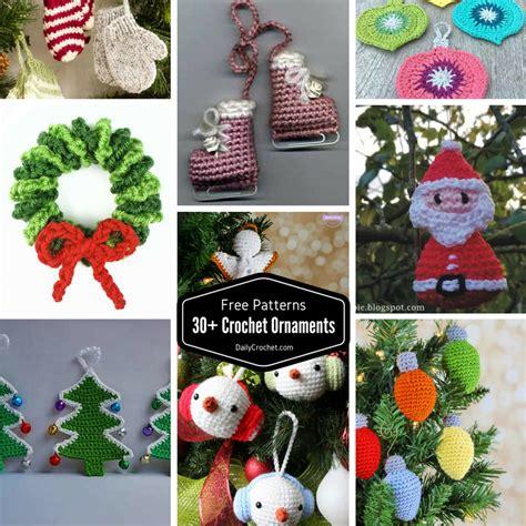 crochet tree ornament 30 free crochet ornaments patterns to