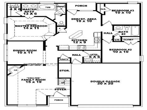 3 bedroom 3 bath house plans 3 bedroom 2 bath house floor plan 3d 3 bedroom 2 bath house plans one bedroom one bath house