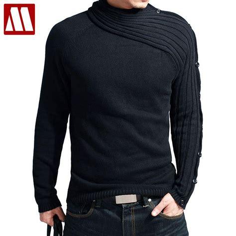 mens oversized knitted jumper boutique store mens black grey sweater jersey slim jumper