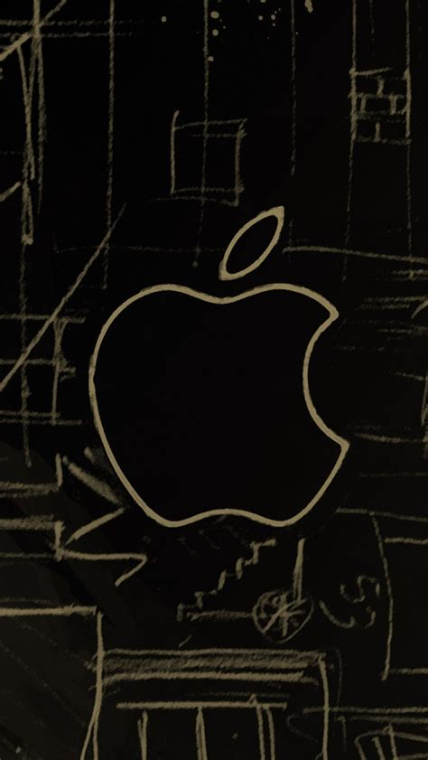 Iphone 5s Car Wallpapers by Apple Logo Sketch Iphone 5s Wallpaper Iphone