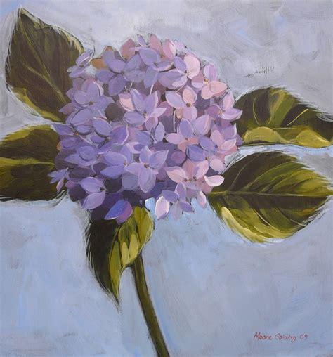 acrylic painting hydrangeas blue hydrangea acrylic on canvas 41x41x4cms 2009 169 sold